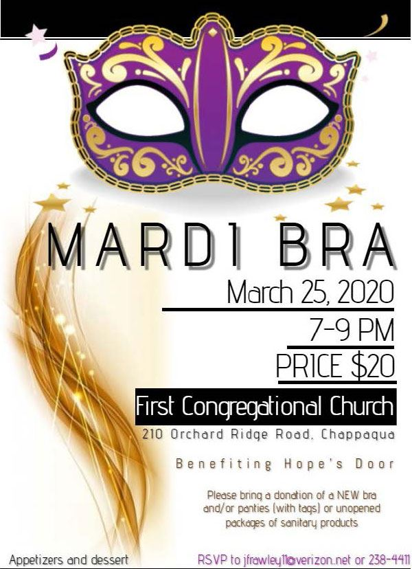 Mardi Bra Event Flyer