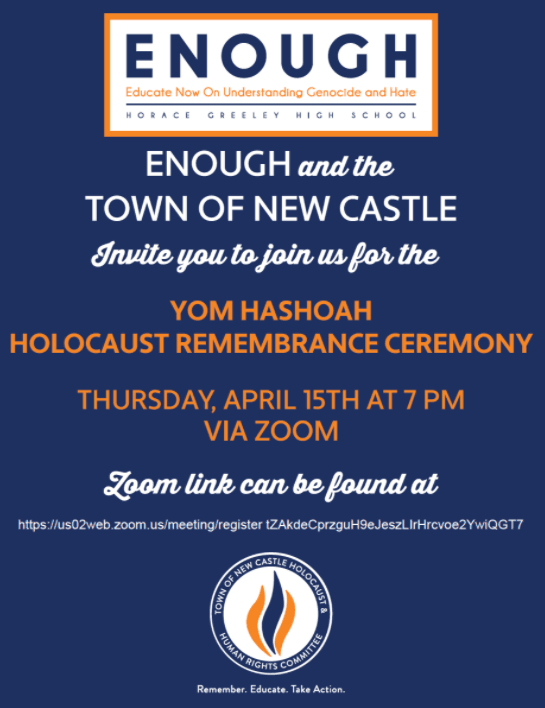 Yom Hashoah Holocaust Remembrance Ceremony 2021 Flyer